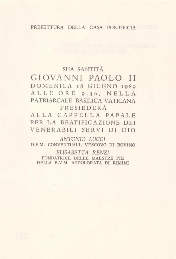 Entrada S.Pietro para la beatificación