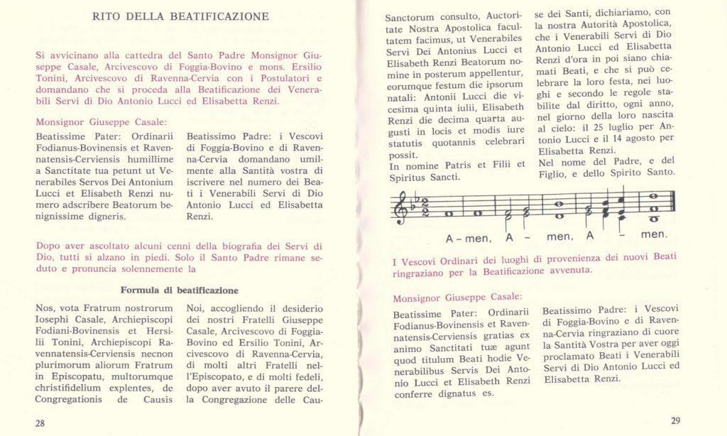 Fórmula de Beatificación