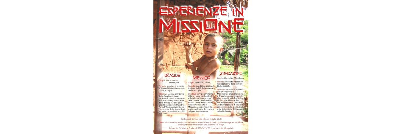 Esperienze in Missione 2014