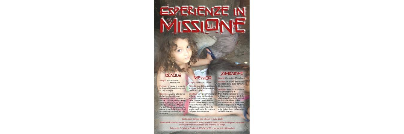 esperienze missione